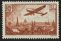 """France 3,50F """"Poste Aérienne N°13 - Avion survolant Paris"""" NEUF** LUXE, 1936"""