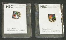 1988 Seoul Korea NBC Olympic  Pins  ( 2 ) Total  New