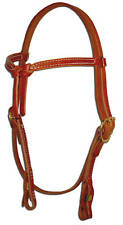 Western leather knotted browband bridle headstall quick change custom  H204
