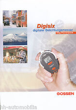 Prospetto Gossen digisix fotometri 6/02 brochure opuscolo Germania