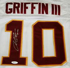 ROBERT GRIFFIN III Signed Washington Redskins White Jersey Autograph JSA Sz 44