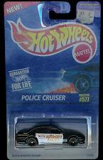 "HOT WHEELS POLICE CRUISER #577 ""AUTO CITY POLICE"" POLICE DEPT BLACK & WHITE"