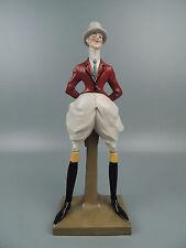 Antique Amphora Pottery Figurine Dandy Gentleman in Driving Suit Elvir Otto PT