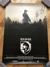 SIGNED BY HIDEO KOJIMA! Metal Gear Solid Portable Ops Promo Poster Japan RARE!