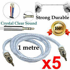 5 1m Durable AUX Auxiliary Cable 3.5mm Male to Male Stereo Audio Input Samsung
