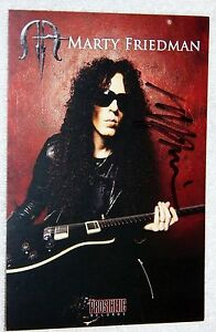 Guitarist Marty Friedman Signed Promo Postcard Auto Megadeth