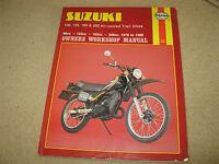 Haynes Suzuki Motorcycle Workshop Manual 100 125 185 250 air cooled trail bikes