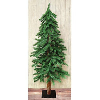 Country ALPINE ARTIFICIAL CHRISTMAS TREE Primitive Holiday ...