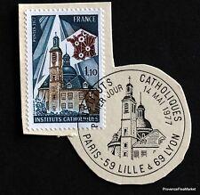 TIMBRE FRANCE OBL. 1° JOUR  Yt 1933 INSTITUTS CATHOLIQUES