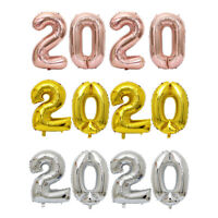 16/32 Inch 2020 Number Foil Balloon New Year Eve Graduation Party Decor Star