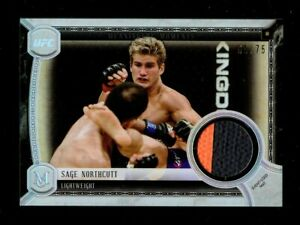 2018 TOPPS UFC MUSEUM COLLECTION SAGE NORTHCUTT EVENT USED MAT 69/75