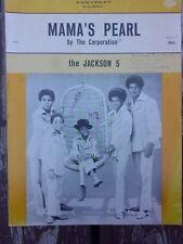 Mama's Pearl 1971 Michael Jackson 5 Vintage Original Sheet Music RARE