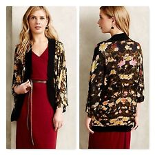 Anthropologie Blank London NightGarden Kimono Cardigan sweater floral sz XS