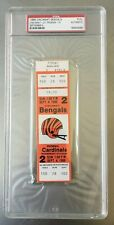 1988 Cardinals Cincinnati Bengals 9/4/88 Ickey Woods NFL Debut Esiason 3 TDs PSA