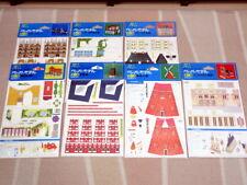 Nintendo Papercraft Paper Model Building Structure series 7 set vintage Japan