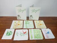 Vintage Gwen Frostic Nature Block Print Birds Flowers Note Cards Envelopes