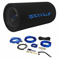 "Rockville RTB80A 8"" 400 Watt Powered Subwoofer Bass Tube + MP3 Input + Amp Kit"