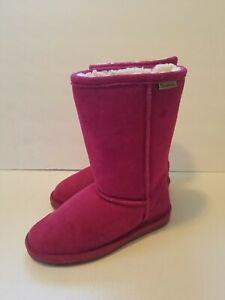 Size 4 Pink Bearpaw Winter Boots Sheepskin Interior