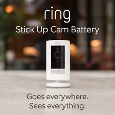 All-new Ring Stick Up Cam Battery | HD security camera with Two-Way Talk, white,