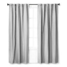 "Twill Blackout Curtain Panel Gray (42""x95"") - Pillowfort"