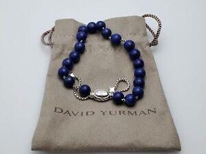 David Yurman Sterling Silver Spiritual Beads Bracelet with Lapis Lazuli, 8mm
