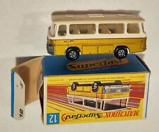12-E1 Near MINT! w/G Box Setra Tan Roof Coach Superfast Lesney Matchbox circ '71