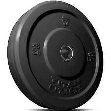 Titan 45lbs Olympic Rubber Bumper Plate - Black