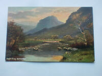 Eagle Crag Borrowdale Vintage Hildesheimer Art Postcard English Lakes 5425
