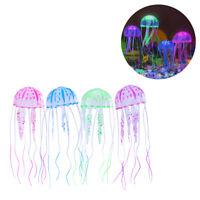"US 4pack/set 6"" Aquarium Jellyfish Glowing Effect Fish Tank Artificial Ornament"