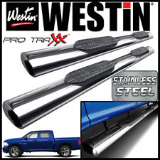Westin Pro Traxx 6 Stainless Oval Nerf Step Bars Fit 2009 18 Dodge Ram Crew Cab Fits Dodge Ram 1500