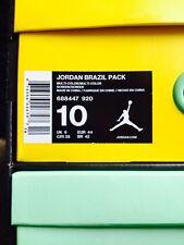 Men's Black,Yellow and Green Jordan Brazil 2 Pair Pack Athletic Sneakers Size 10
