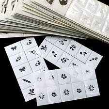 BTArtbox 35pcs Pattern Template Stencil Stickers Set Airbrush Stencils Nail Art