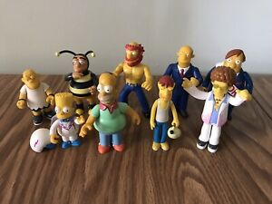 Vintage Playmates Simpsons World of Springfield Lot Of 9 Loose Figures