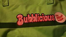 """1980s -1990s Vintage RARE BUBBLICIOUS Bubble Gum Vintage Tote gym bag Purse 16"""""""