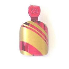 12 Metallic Chrome Nails Tips Kunstnägel Pre- Glued Rot Gold Streifen MF-10