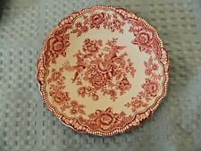 Crown Ducal Bristol Red/Pink Ware English Ironstone Saucer