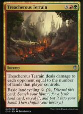 4x treacherous terrain | NM/M | commandant 2016 | Magic MTG