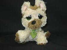 "RESCUE PETS BABY PUPPY DOG SAD EYES ROUND EARS PLUSHTAN GERMAN SHEPHERD PUPPY 6"""