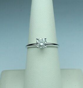 0.47 carat diamond solitaire ring HI I1-I2 14kt w. gold size 7 TIMELESS CLASSIC