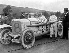 Photograph Vintage Race Car Driver Max Sailer & Mercedes at Targa Florio 1922