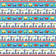 1.5m All Aboard Blue Boy's Happy 1st Birthday Party Gift Wrap Wrapping Paper