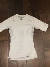 NEW ADIDAS Techfit C&S Short Sleeve Men's Shirts - WHITE