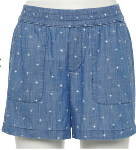 """Women's SONOMA """"Goods For Life""""  Easy Pull-On Shorts Size X Large (16-18) NWT"""
