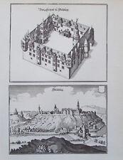 Weilburg Merian - 20x25,5 cm Kunstblatt Reproduktion art print