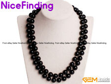 """Women 10mm Handmade Shell Pearl Beaded Long Necklaces Fashion Jewelry 34"""" Gift"""