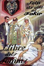 SOTA ULLS DEL  FAKIR. AQUARELLE. COUVERTURE DE LIVRE. DALMAU. ESPAGNE.CIRCA 1920