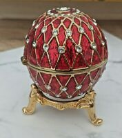 Royal Red Egg Trinket Box