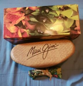 New with box MAUI JIM hard clamshell case for sunglasses