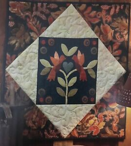 """Love Birds Wall Hanging Wool/Cotton Penny Rug Kit 26"""" x 26"""""""