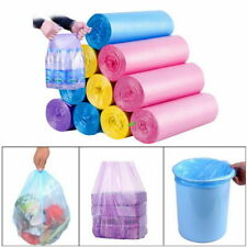 Garbage Bags Household Storage Clear Roll Disposable Waste Trash 5 rolls/set